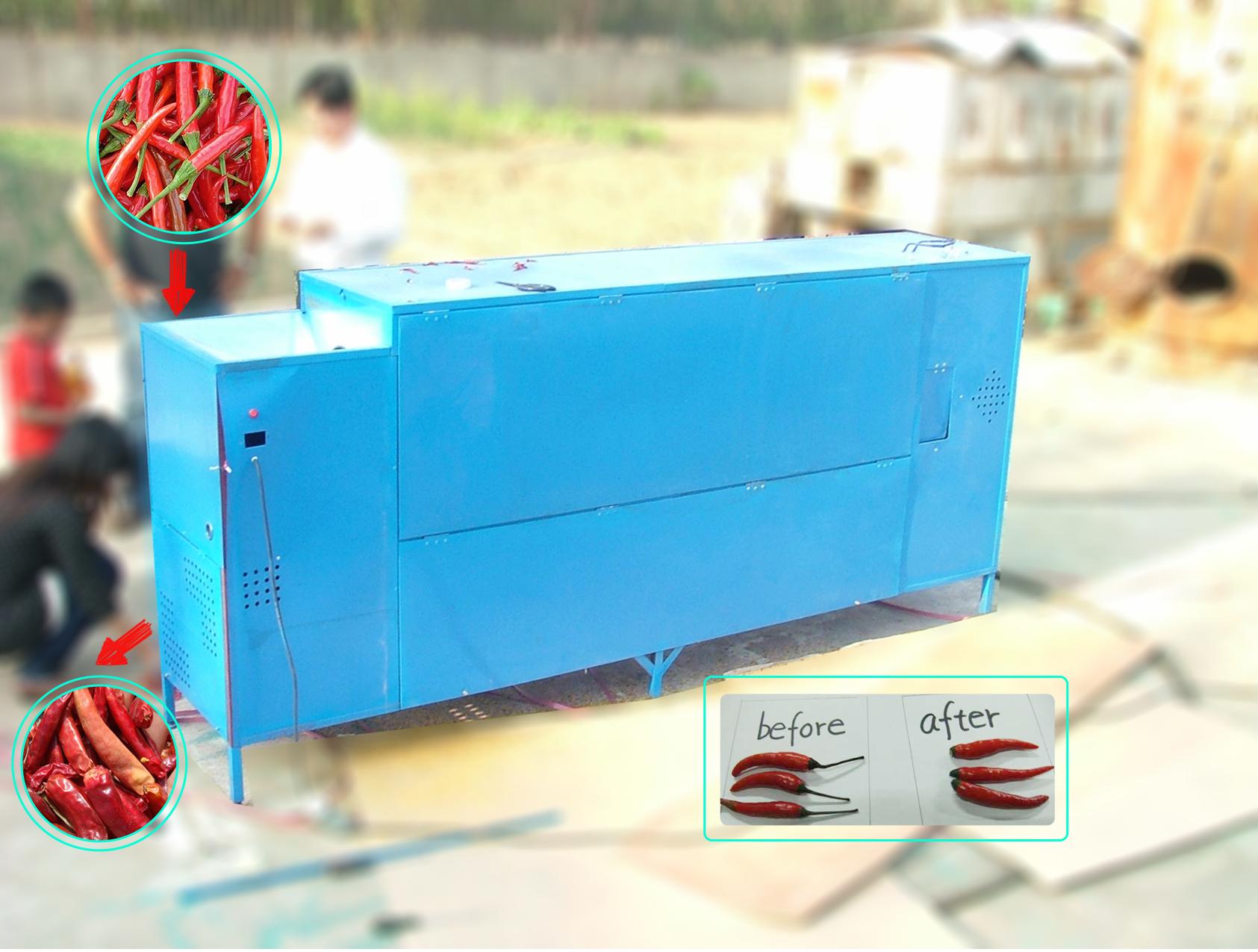 automatic chili stem cutting machine