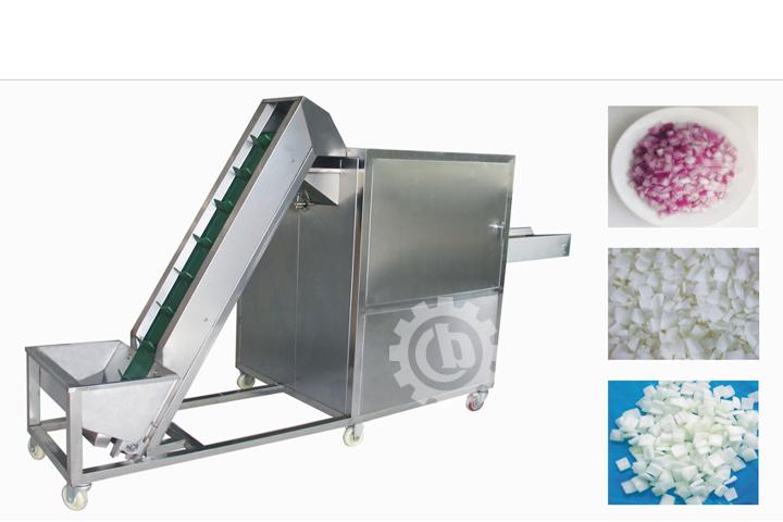 vegetable cube cutting machine